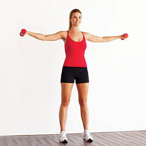 Đánh tan vùng mỡ bắp tay với bài tập thể dục tại nhà