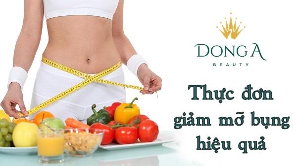thực đơn giảm mỡ bụng hiệu quả