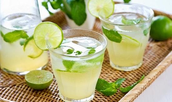 Đồ uống làm ốm nhanh từ chanh