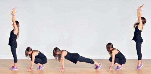 Nhảy burpee - 5 bài tập HIIT giảm mỡ cho nữ siêu nhẹ nhàng